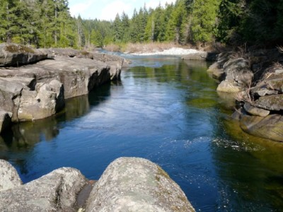Nanaimo River in summer